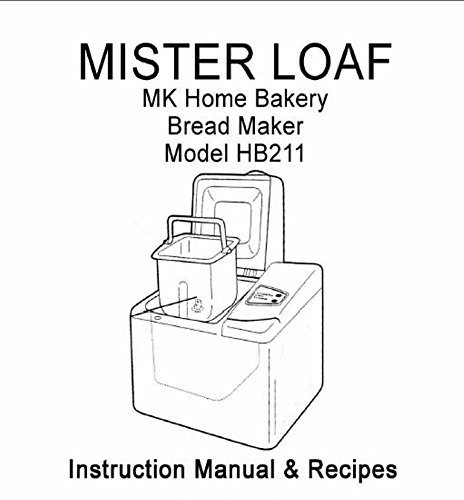 MK Mr Loaf Bread Machine Maker Instruction Manual & Recipes Small Appliance Parts